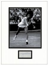 Virginia Wade Autograph Signed Display
